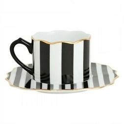 Francfranc Adome Cup and Saucer 200ml Stripe Serving Dishes