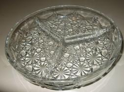 Glass Serving Dish Kitchen Dining Clear Candy Nut Bowl 3 Sec