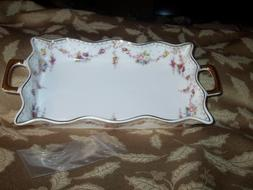 GRACE'S TEAWARE porcelain tea tray / serving dish WITH HANDL