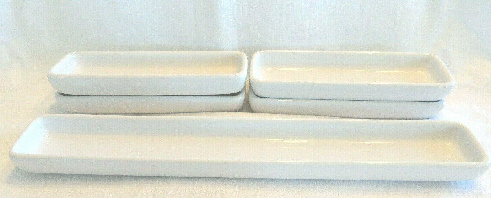simple additions hospitality boat trays dish set