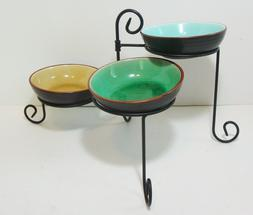 Pier 1 Serving Dish Set Of 3 Bowls on Iron Stand