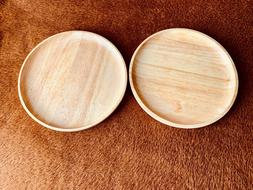 Wooden Plate Serving Dish Tray Food Wood Fruit Plates Dishes