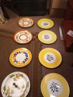 Stangl Pottery Dishware Plates, 8-piece set, 7 dishes, one s
