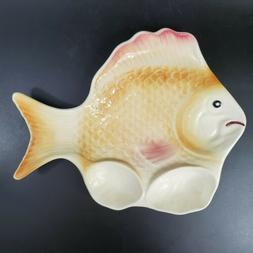 Sad Fish Plate Platter Serving Wall Hanging Quirky Hilarious