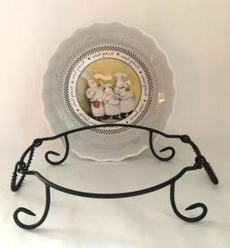 Mud Pie Serving Dish Bowl Chef Finishing Touches Trivet Oven